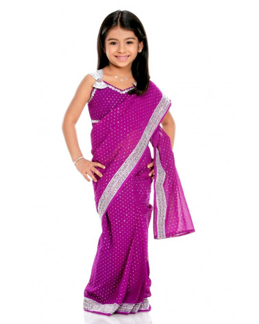 Saree kid violet