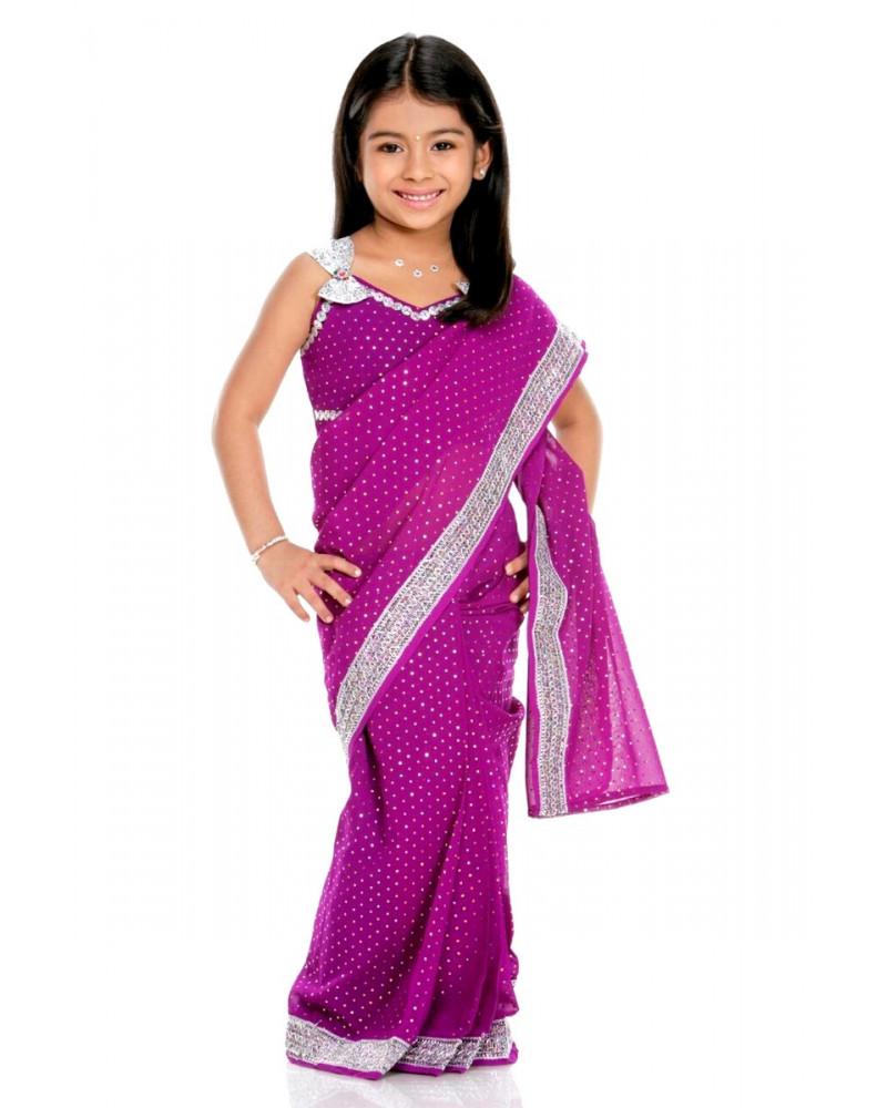 Saree kid violet