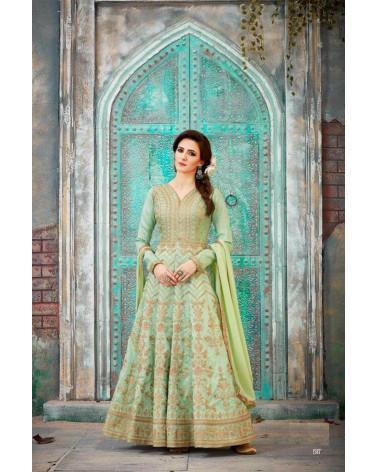 Salwar Anarkali Turquoise Bella