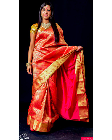 Saree silk rouge