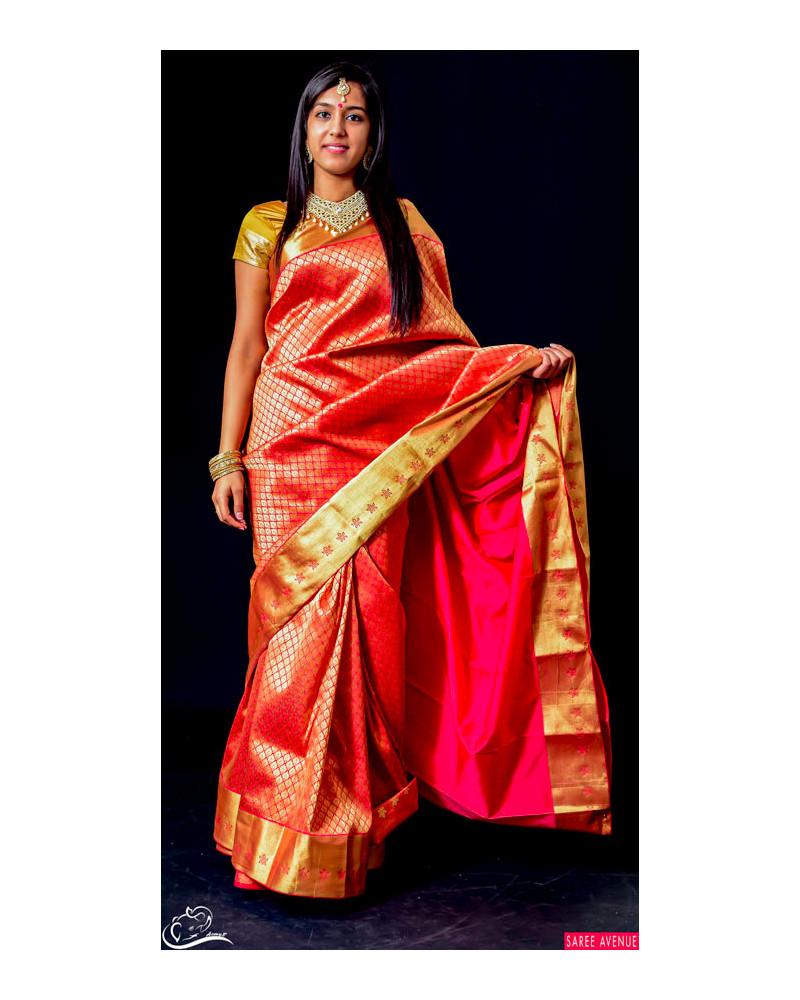 Saree silk rouge