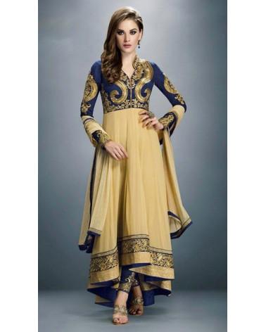 Salwar kameez Or/bleu Gulzar