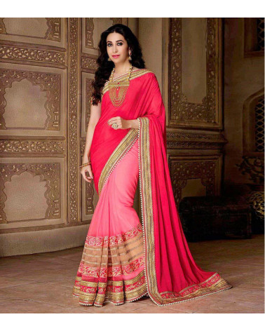 Saree fashion Rouge/Rose