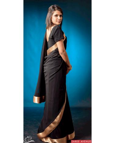 Saree noir Gold