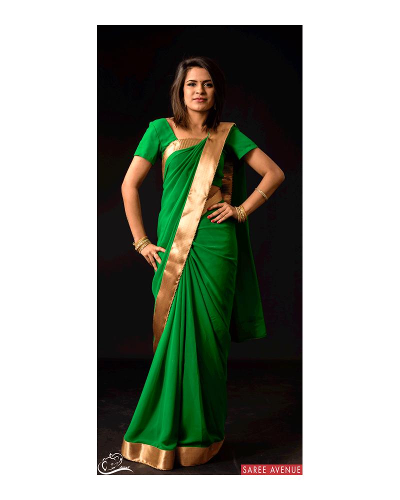 Saree vert Gold