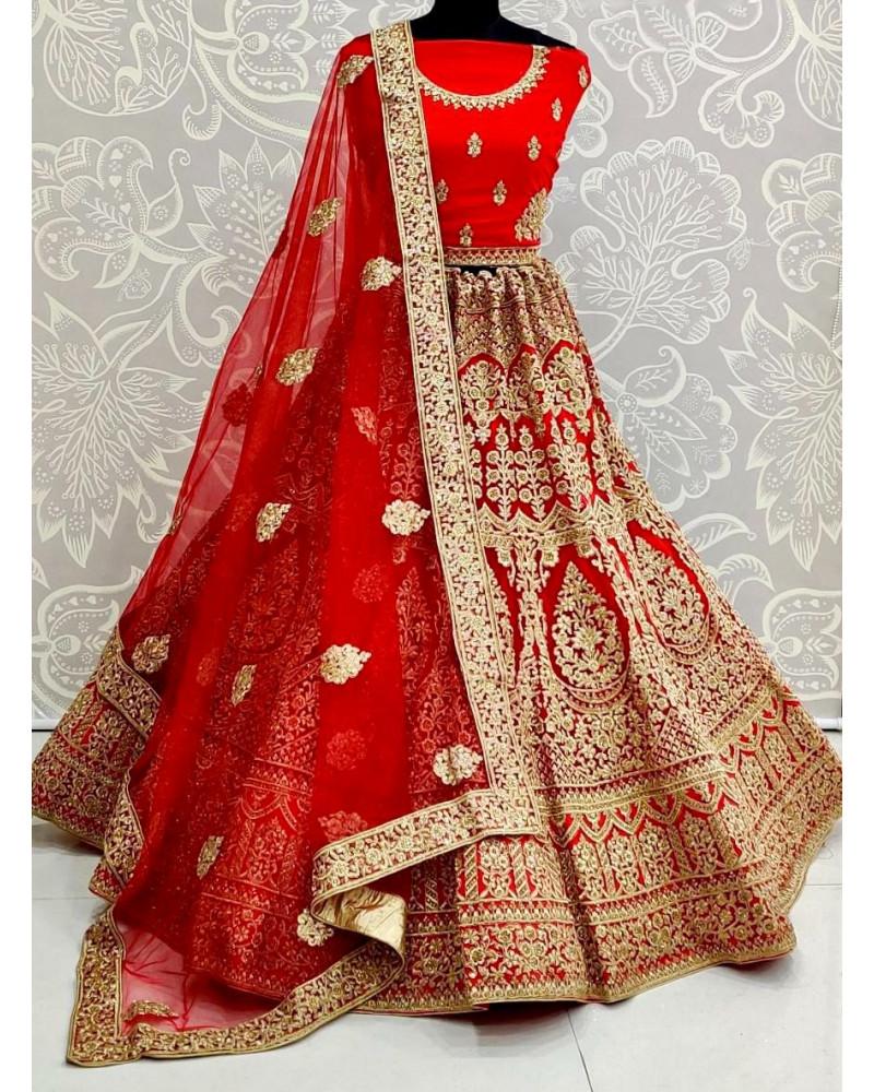 Lehenga choli rouge Gujarat