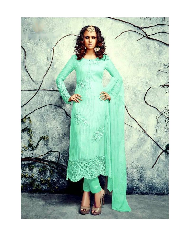 Salwar kameez turquoise Summer