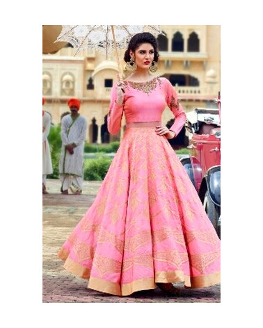 Salwar anarkali rose