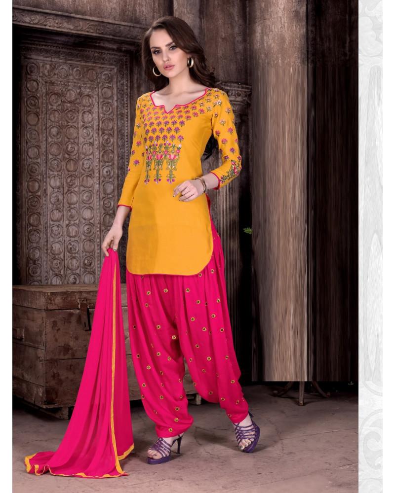 Salwar panjabi Jaune/Rose