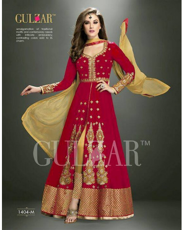 Salwar anarkali rouge/or Gulzar