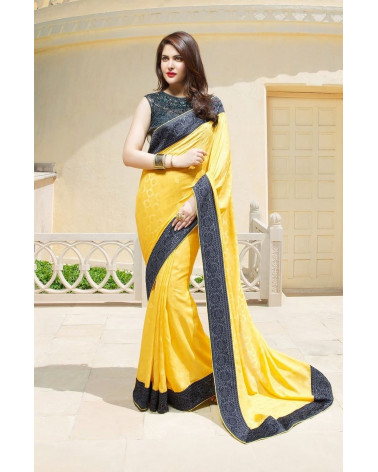 Saree fashion jaune