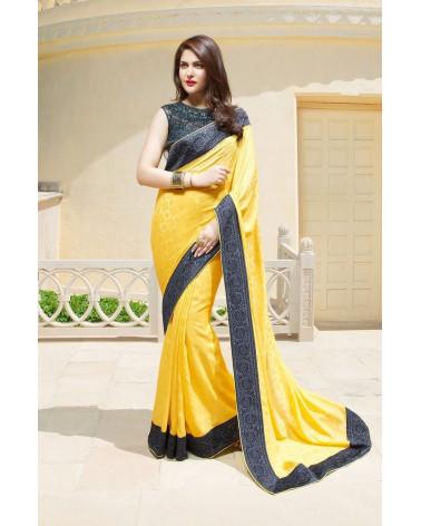 Saree fashion jaune