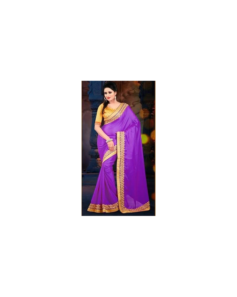 Saree fashion violet