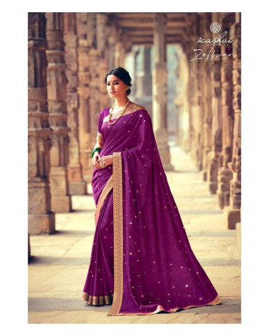 Saree violet Zaffran