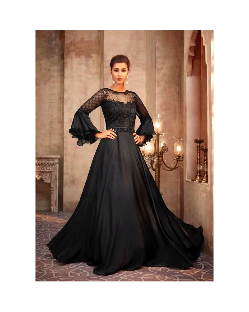 Robe indienne noire Shine