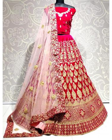 Lehenga choli rose fushia Gujarat