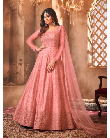 Salwar anarkali rose Advika