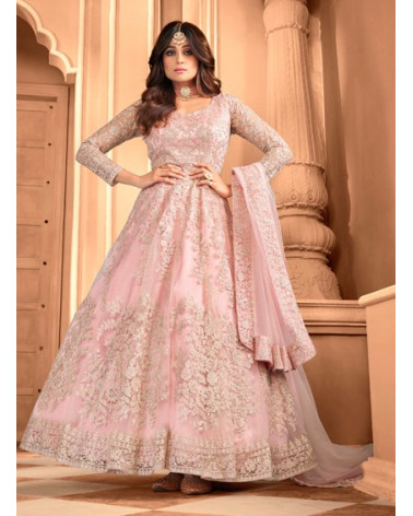 Salwar anarkali rose pastel Advika
