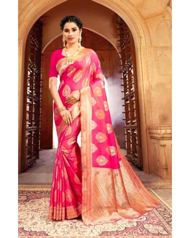 Saree rose silk Kaveri