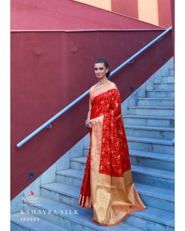 Saree rouge silk Rajtex