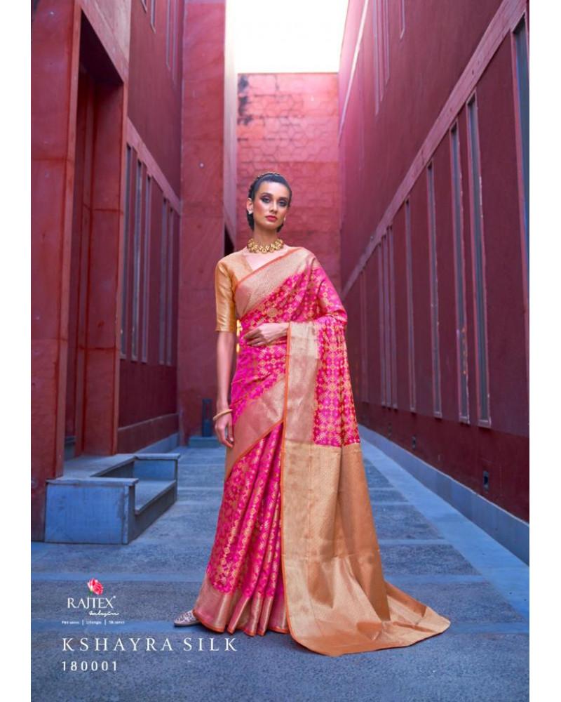 Saree rose silk Rajtex