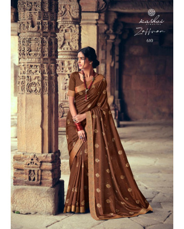 Saree marron Zaffran