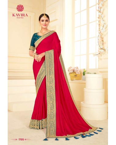 Saree rose magenta Kavira