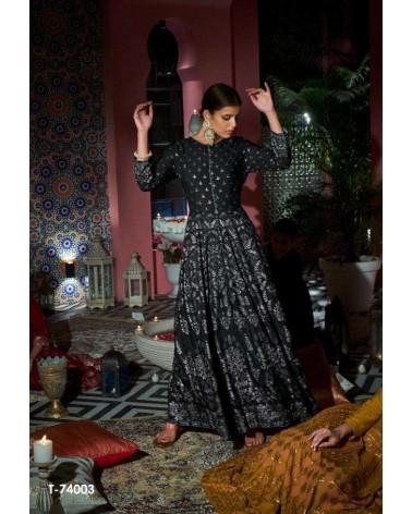 Tunique robe noire Kalki