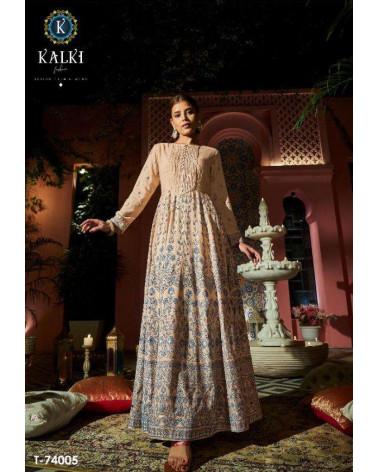 Tunique robe beige Kalki