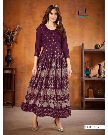 Tunique robe violette Blue Hill