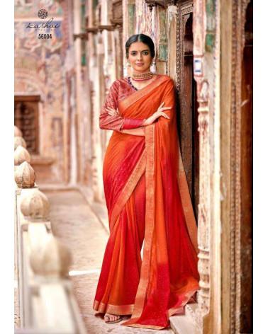 Saree orange Kashvi