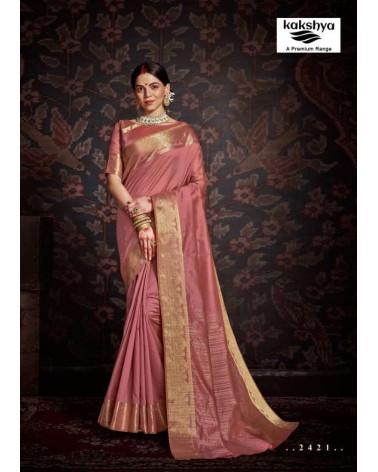 Saree vieux rose Kakshya