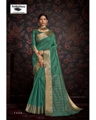 Saree turquoise Kakshya