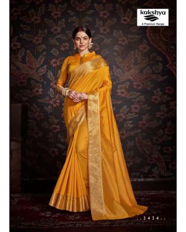 Saree jaune Kakshya